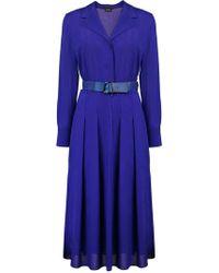 Akris - Kleid mit Taillengürtel - Lyst