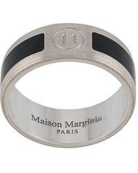 Maison Margiela Zweifarbiger Ring mit Gravur - Mettallic