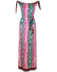 Amir Slama Printed Silk Maxi Dress - Multicolour