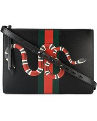 Gucci - Web And Snake Messenger Bag - Lyst