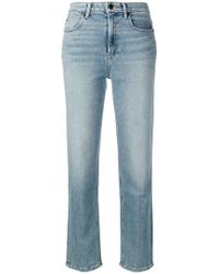 T By Alexander Wang - Cropped Straight Leg Jeans - Lyst