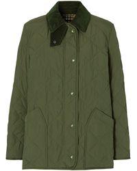 Burberry Gesteppte Jacke - Grün