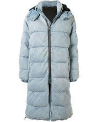Alexander Wang Long Puffer Coat - Blue