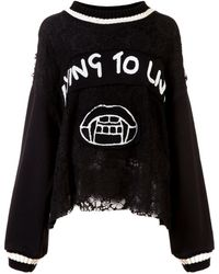 Haculla Dying To Live Patch Jumper - Black