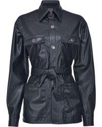 Pinko - Куртка Из Искусственной Кожи С Поясом - Lyst
