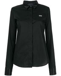 Philipp Plein Embellished Collar Shirt - Черный