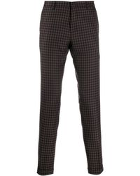 Paul Smith Checked Slim-fit Pants - Black
