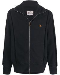 Vivienne Westwood ジップ ロゴ セーター - ブラック