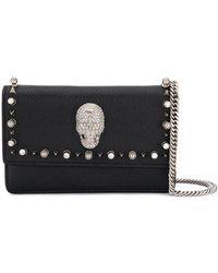 Philipp Plein Crystal Skull Crossbody Bag - Black