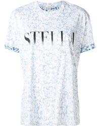 Stella McCartney ロゴ Tシャツ - ブルー