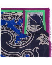 Etro Fular con estampado de cachemira - Azul