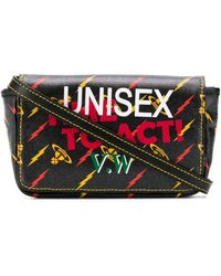 Vivienne Westwood Unisex Time To Act サッチェルバッグ - ブラック