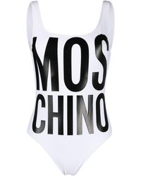 Moschino ロゴ ワンピース水着 - ホワイト