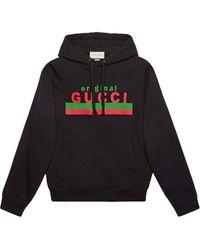 Gucci Худи С Принтом Original - Черный