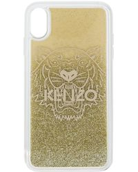KENZO Tiger Logo Phone Case - Metallic