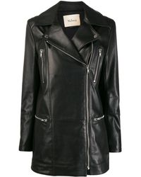 Mulberry Jessie Zipped Biker Jacket - Black