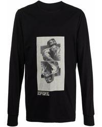 Rick Owens DRKSHDW フォトプリント Tシャツ - ブラック