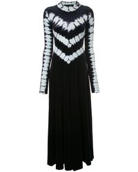 Proenza Schouler タイダイ ロングスリーブ ドレス - ブラック