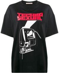 Christopher Kane Techno Sexual Tシャツ - ブラック