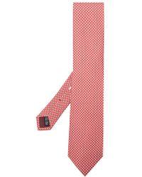 Ferragamo - Micro Print Tie - Lyst