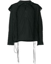 KTZ レースアップ装飾 ジャケット - ブラック