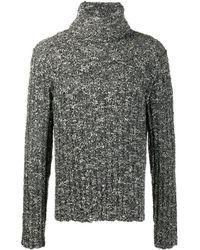 Dolce & Gabbana Джемпер С Высоким Воротником В Рубчик - Черный