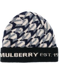 Mulberry モノグラム ビーニー - ブルー