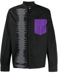 Pyer Moss コントラストポケット シャツ - ブラック