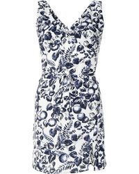 Reformation All-over Fruit Print Dress - Blue