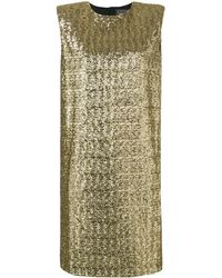 Gianluca Capannolo Sequinned Cocktail Dress - Metallic
