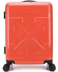 Off-White c/o Virgil Abloh Koffer mit eingeprägtem Logo - Rot