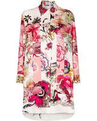 Ferragamo Рубашка С Цветочным Принтом - Розовый