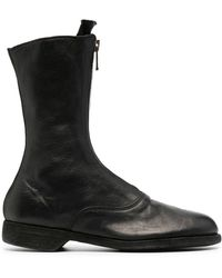 Guidi Ботинки На Молнии Спереди - Черный