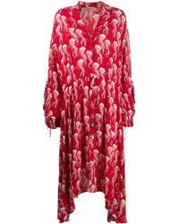 N°21 Платье Макси С Принтом - Красный