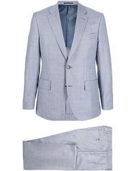 Gieves & Hawkes スリムフィット シングルスーツ - ブルー