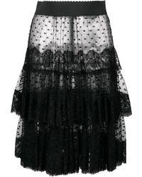 Dolce & Gabbana - Sheer Frilled Skirt - Lyst