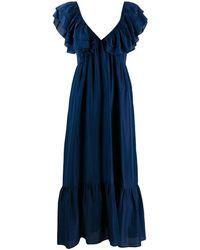 MASSCOB Ruffle-trimmed Dress - Blue
