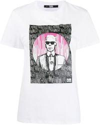Karl Lagerfeld - Футболка Из Коллаборации С Endless - Lyst