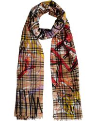 Burberry - Graffiti Vintage Check Scarf - Lyst