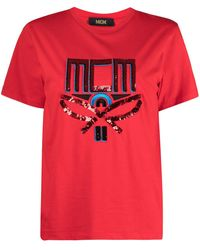MCM Футболка С Логотипом - Красный