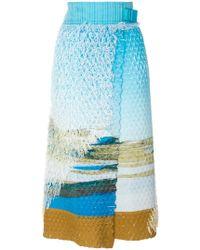Issey Miyake - Printed Wrap Skirt - Lyst