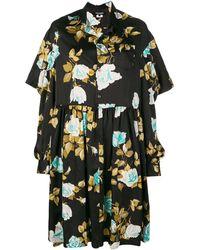 Junya Watanabe Floral Printed Dress - Черный