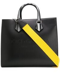 Dolce & Gabbana Logo-debossed Tote Bag - Black