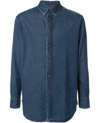 Brioni ポインテッドカラー デニムシャツ - ブルー