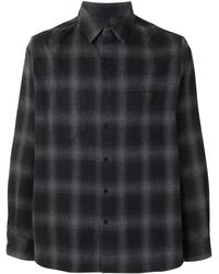 RTA Check Long-sleeve Shirt - Black