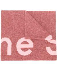 Acne Studios Sjaal Met Toronty Logo - Roze