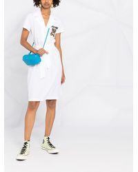 Moschino Платье-рубашка С Логотипом - Белый