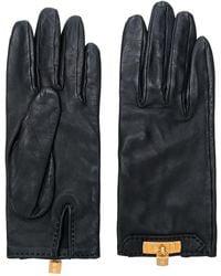 Hermès Pre-owned Padlock Gloves - Black