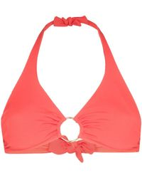 Melissa Odabash Top bikini con scollo all'americana - Arancione