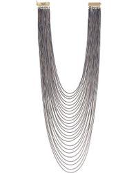 Rosantica Long Chain Necklace - Gray
